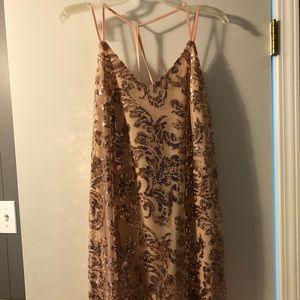 Target Xhilaration Rose Gold Sequined Dress.